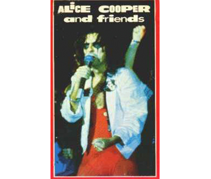 1977 Alice Cooper And Friends VHS