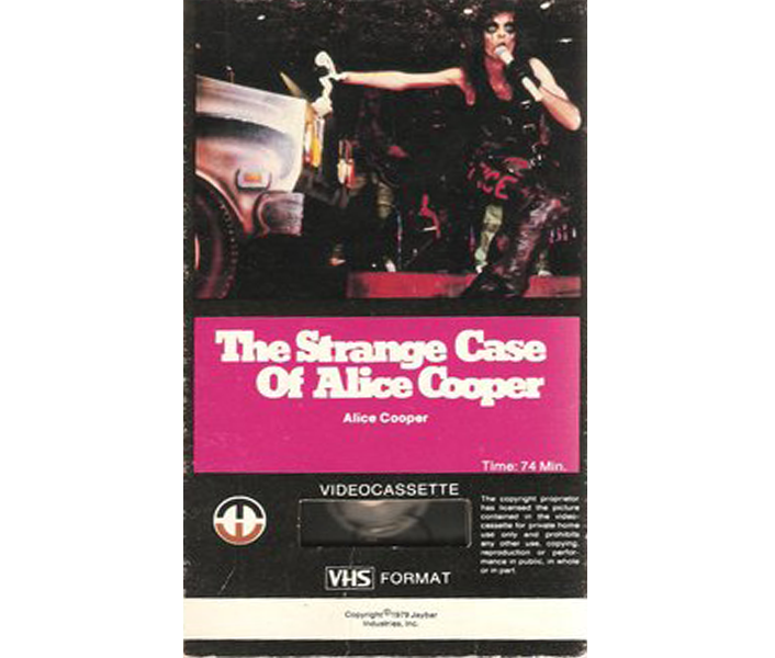 1979 The Strange Case Of Alice Cooper VHS